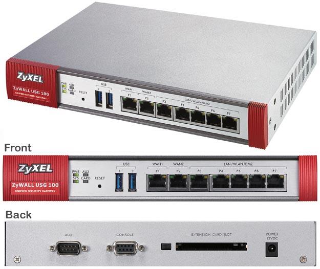 ZyXEL ZYWALL USG 100 Security Gateway Drivers Windows XP