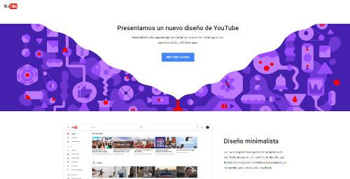 """Youtube permite el cambio de diseño """"material design"""""""