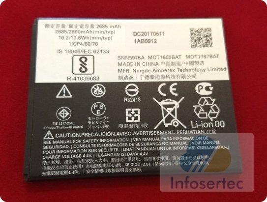 Batería y sus especificaciones tecnicas