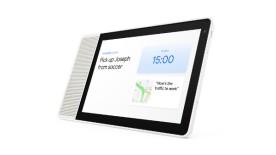 10-inch Lenovo Smart Display shows home screen