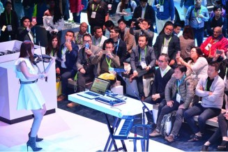 Intel Corporation's booth at the 2018 Consumer Electronics Show (CES) creates an immersive journey that communicates how Intel unlocks the power of data in the context of artificial intelligence, 5G communications, autonomous driving and virtual reality. Intel displays how the power of data is affecting our daily lives at 2018 CES from Jan. 8-12 in Las Vegas. (Credit: Walden Kirsch/Intel Corporation)