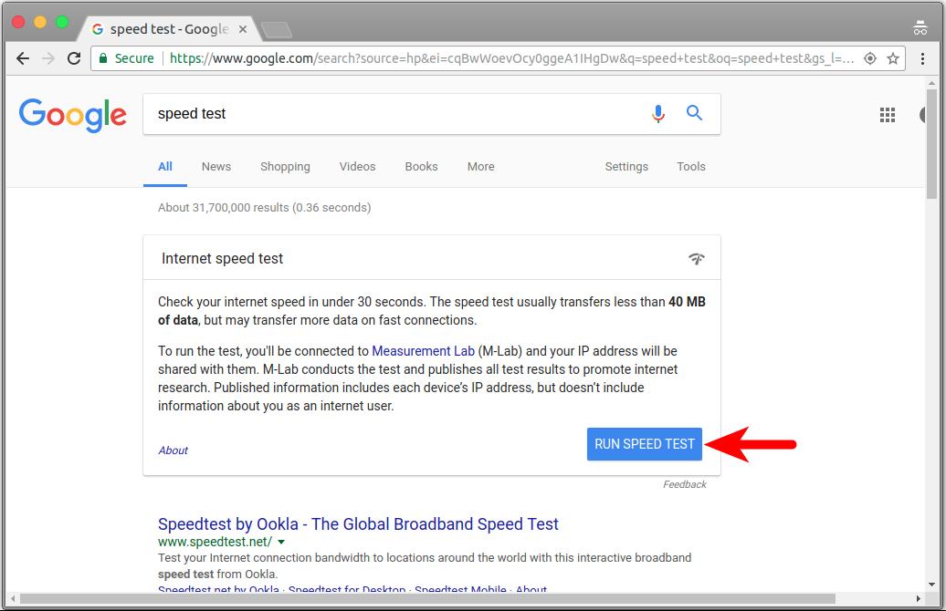 Google ofrece ahora medir tu velocidad de conexión