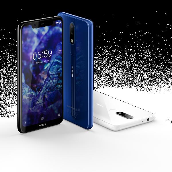 Nokia 5.1 Plus - Negro, azul y blanco