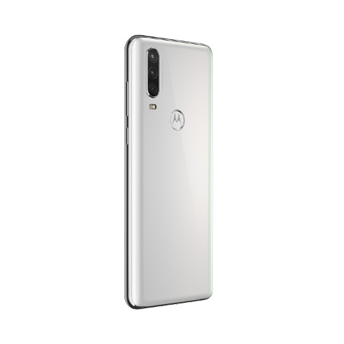 Motorola One Action-NA-Pearl White-DYN BACK RIGHT