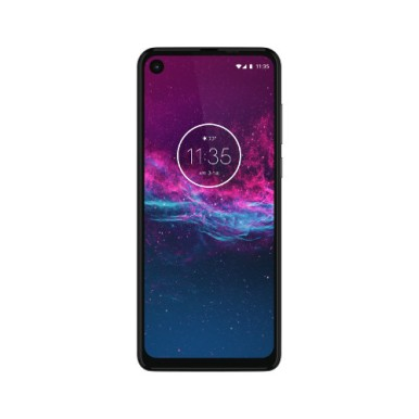 Motorola One Action-NA-Pearl White-FRONTSIDE