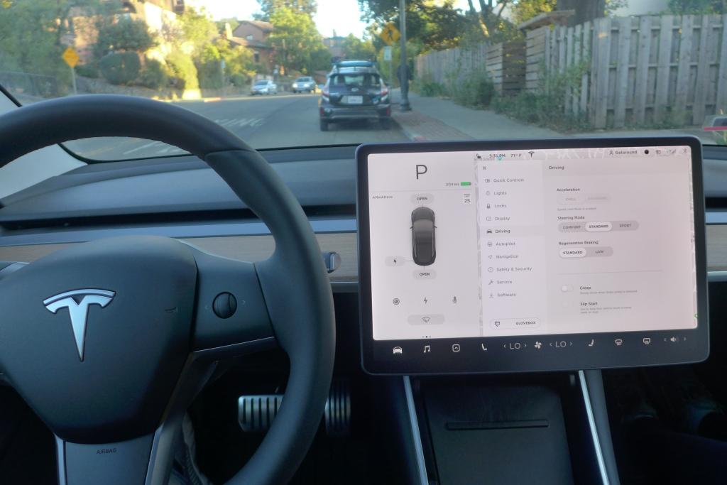 Display del Tesla